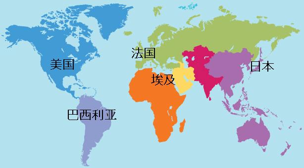 Страны на китайском языке
